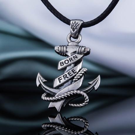 Born Free Anchor Pendant // Silver