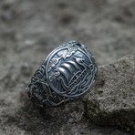 Viking Collection // Urnes Ornament + Viking Ship Ring (6.5)