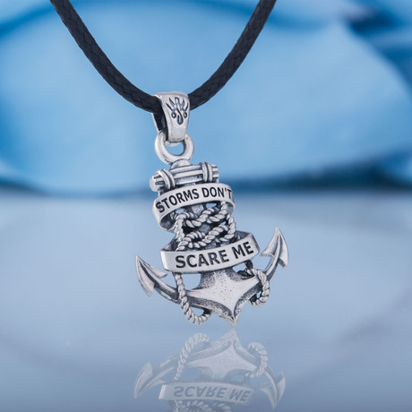 Storms Don't Scare Me Anchor Pendant