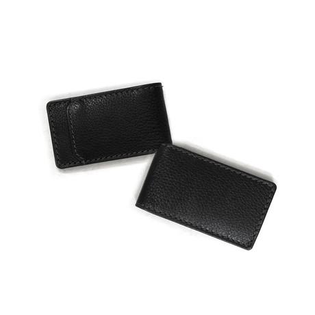 Garth Leather Magnetic Money Clip // Black