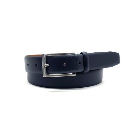 Fisher Dress Belt // Navy (32)