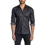 Long Sleeve Shirt // Black Paisley (S)