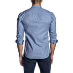 Long Sleeve Shirt // Blue Mouline (L)