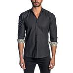 Pin Point Long Sleeve Shirt // Black (XS)