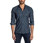 Long Sleeve Shirt // Dark Navy Floral (2XL)
