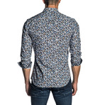 Long Sleeve Shirt // Navy Floral (XL)