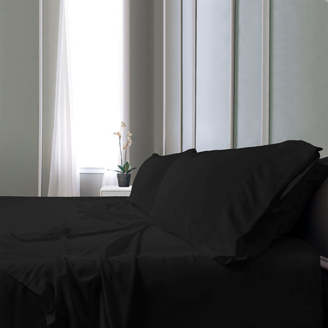 Bamboo Field Bedsheets // Black (Twin XL)