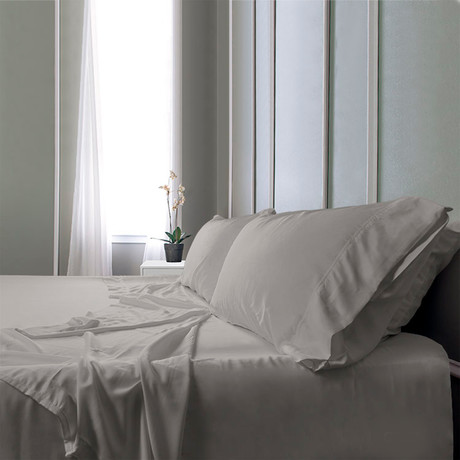 Bamboo Field Bedsheets // Gray (Twin XL)