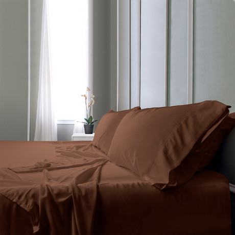 Bamboo Field Bedsheets // Brown (Full)