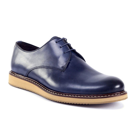 Crogo Leather Derby // Blue (Euro: 39)