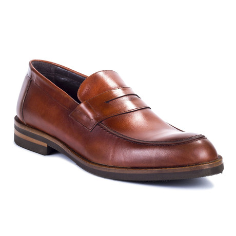 Cafaz Leather Loafer // Cognac (Euro: 39)