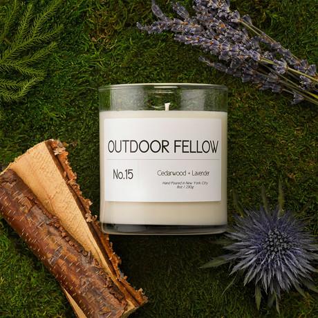 No. 15 Cedarwood + Lavender // 8oz Candle