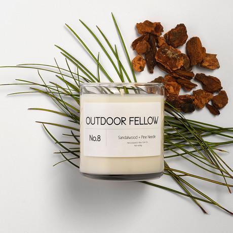No. 8 Sandalwood + Pine Needle // 8oz Candle