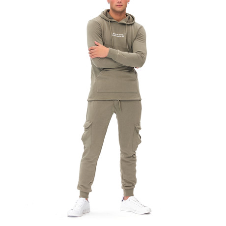 Jamie Tracksuit + Zipper Pockets // Olive Green (Small)