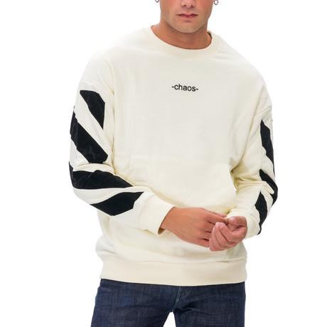 Fred Printed Crew Neck Sweatshirt // White (Small)