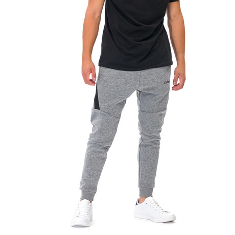 Samuel Embroidered Joggers // Gray (Small)