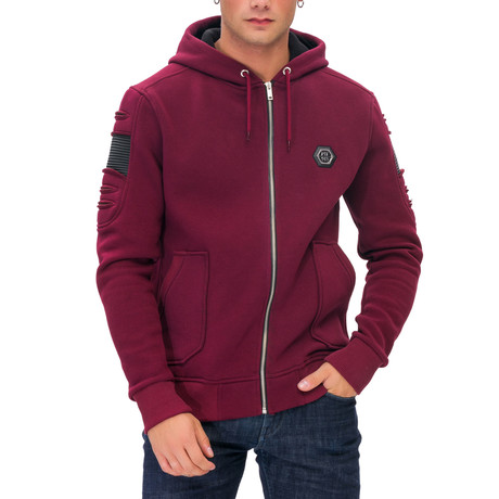 Mosley Logo Hoodie // Red (Small)