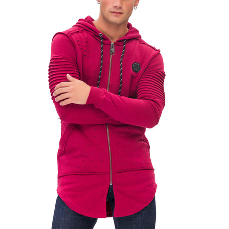 Jesse Zip-Up Hoodie // Red (Small)