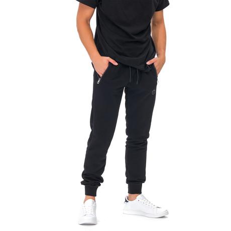 Mack Joggers + Zipper Detail // Black (Small)