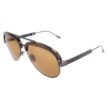 Tod's // Men's TO0211 Sunglasses // Brown Horn