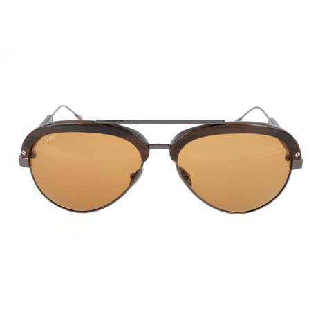 Men's TO0211 Sunglasses // Brown Horn