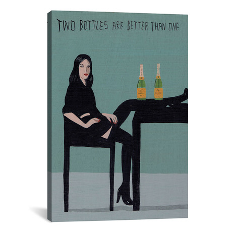 "Two Bottles Are Better Than One (12""W x 18""H x 0.75""D)"
