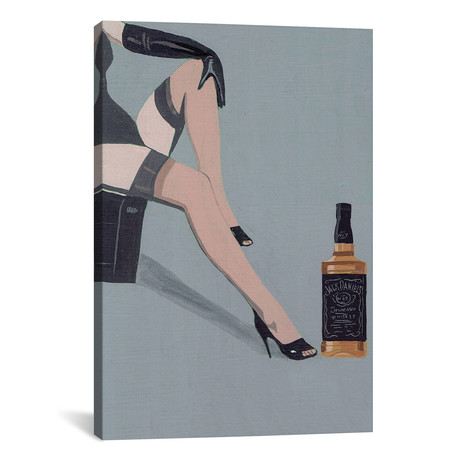 """A Night In With Jack (12""""W x 18""""H x 0.75""""D)"""