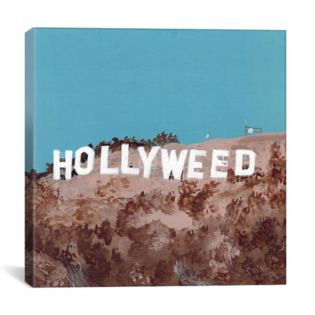"Hollyweed (12""W x 12""H x 0.75""D)"
