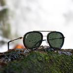 Kirk Polarized Sunglasses (Weathered Olive + Smoke)