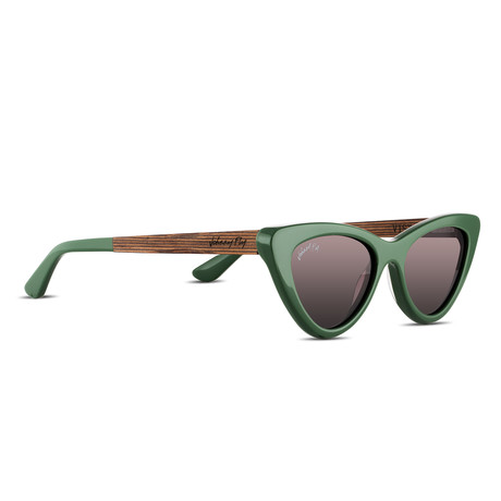 Unisex // Polarized // Vista Sunglasses // Forest Green + Brown Gradient