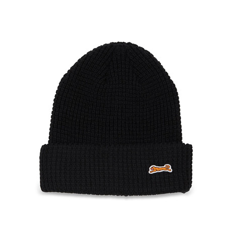 Embroidered Beanie // Black