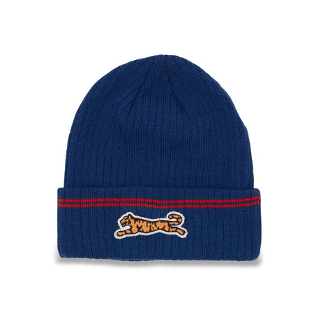 Embroidered Beanie // Navy