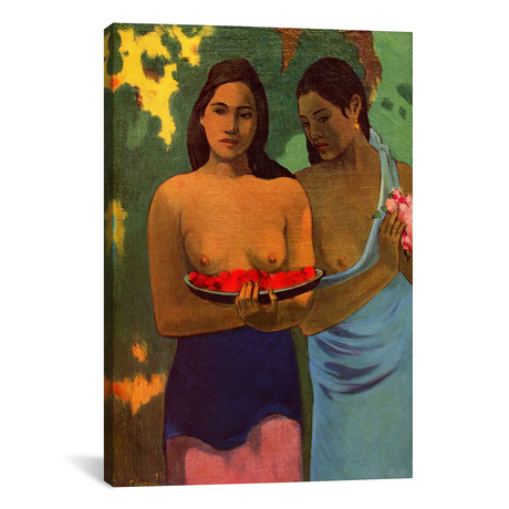 "Deux Thaitiennes - Two Tahitian Women // Paul Gauguin (12""W x 18""H x 0.75""D)"