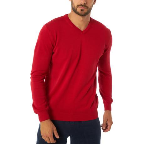 Jimmy Sanders // Zolia Sweater // Red (XS)