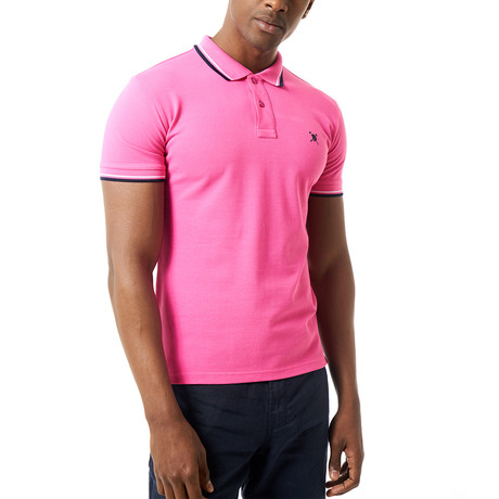 Steve Short Sleeve Polo // Pink (S)