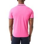 Steve Short Sleeve Polo // Pink (XL)