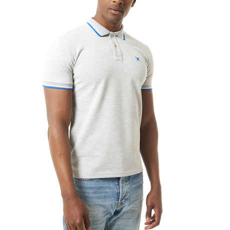 Theodore Short Sleeve Polo // Grey Melange (S)