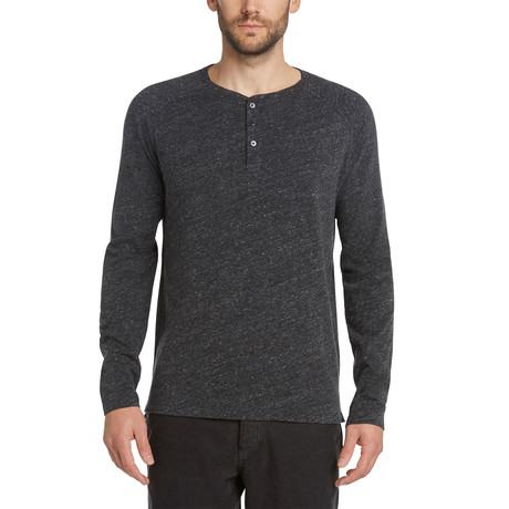 Ls League Henley // Heather Black (S)