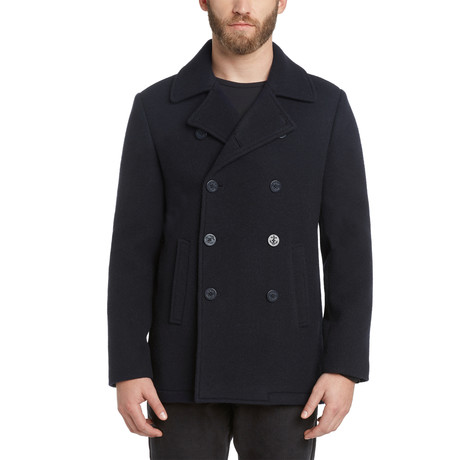 Glastonbury Japanese Wool Coat // Royal Navy (S)