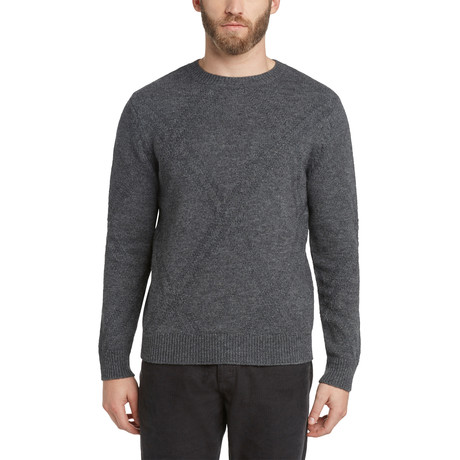 Argyle Crew Sweater // Heather Charcoal (S)