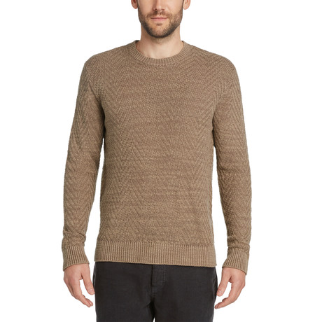 Herringbone Crew Sweater // Portobello (S)