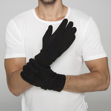 Thermoform Polar Unisex Gloves // Black (XS-S)