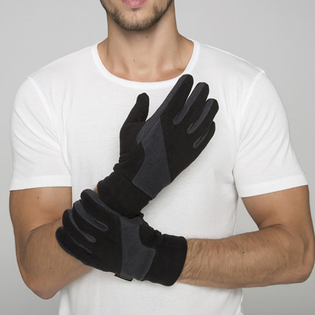 Thermoform Polar Unisex Gloves // Black Gray (XS-S)