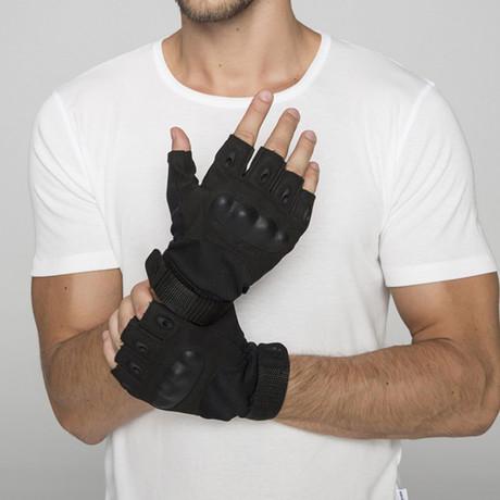 Thermoforming Operation Half Finger Gloves // Black (M)