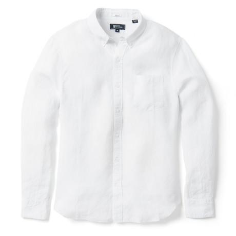 Linen Long Sleeve Tailored // White (XS)