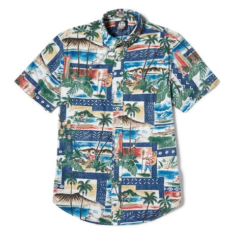 Hawaiian Christmas Tailored // Royal (XS)