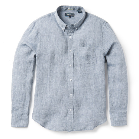 Linen Long Sleeve Tailored // Medieval Blue (XS)