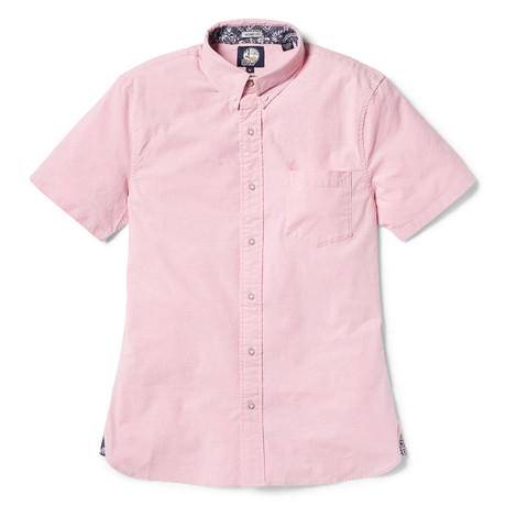 Solid Stretch Oxford // Pink (XS)