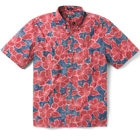 Hibiscus Orchard Button Front // Medieval Blue (XS)