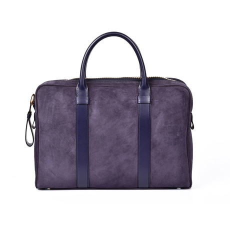 Suede Briefcase // Purple